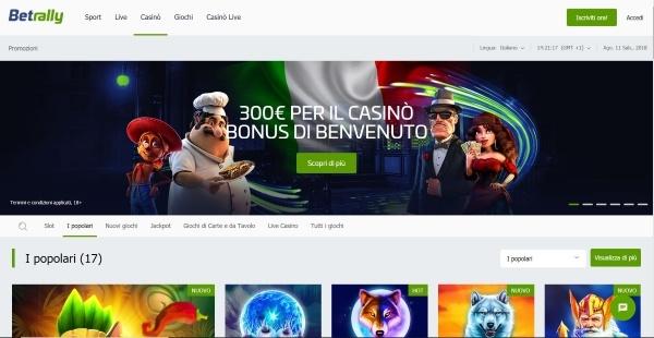 02fec96af1 Betrally è uno dei più grandi siti di gioco online nel panorama italiano.  Eccelle in numerosi aspetti, come la giocabilità, la grafica, ...
